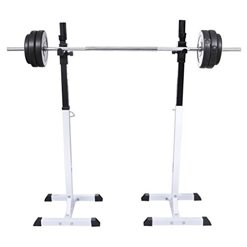 Chloe Rossetti Barbell Rack Squat Barbell Rack Set Barbell Suitable for Beginners Through To Advanced Atheletes by Chloe Rossetti