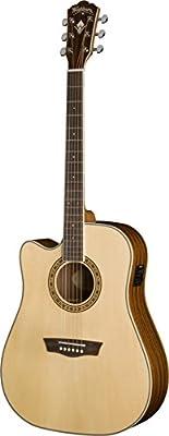 Washburn WD10SCELH - Guitarra electroacústica (para zurdos, tipo ...
