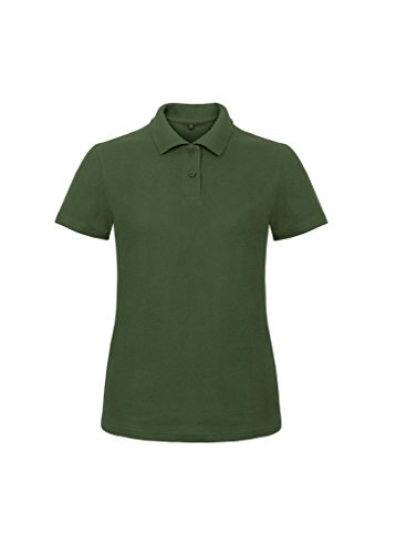 B&C Damen Ladies` Piqué Polo Shirt ID.001 /women Bottle Green XXL