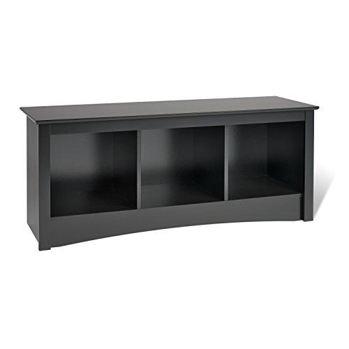 Amazon Com Prepac Sonoma 3 Cubbie Bench Black Kitchen