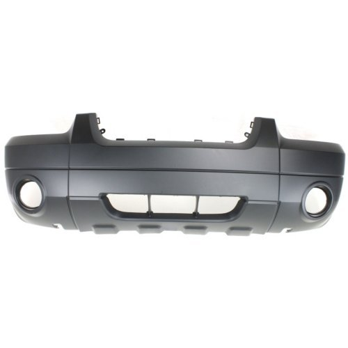 Front Bumper Cover Compatible with FORD ESCAPE 2005-2007 Primed with Fog Light Holes with Molding Holes XLT/Limited/Hybrid Models ()