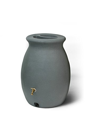 Urn Rain (Algreen Products Castilla Rain Barrel 50-Gallon, Charcoalstone)