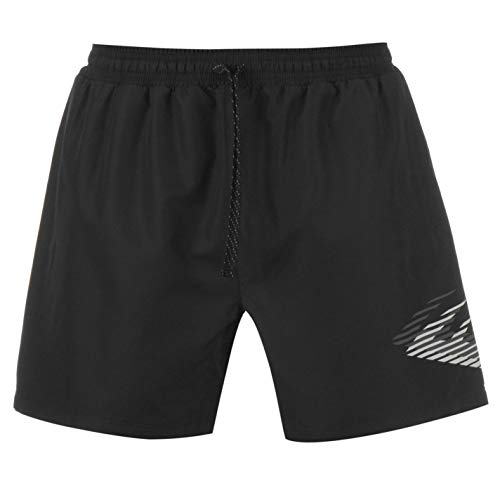 Everlast Athletic Shorts - Everlast Mens Large Logo Woven Shorts Bottoms Black L