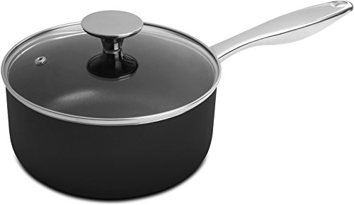 Saucepan - 2 Quart - 18/10 Stainless Steel Handle - with Cover - 18 x 9 cm - Multipurpose Use for Home Kitchen or Restaurant - Chef's Choice - by Utopia Kitchen
