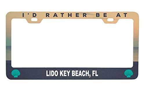 R and R Imports Lido Key Beach Florida Sea Shell Design Souvenir Metal License Plate Frame ()