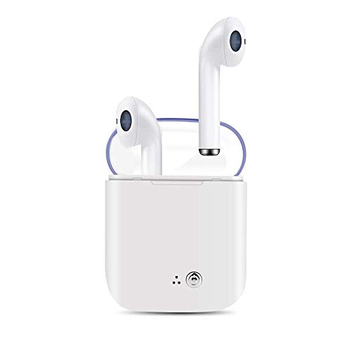 Bluetooth Earbuds, True Wireless Stereo Headphones 4.2 IPX8 Waterproof in-Ear Wireless Charging Case Built-in Mic Headset Premium Sound with Deep Bass for Running Sport