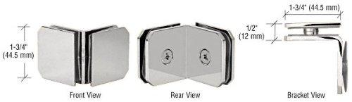 Crl 90 Degree Corner - CRL Chrome Monaco Series 90 Degree Glass-to-Glass Clamp