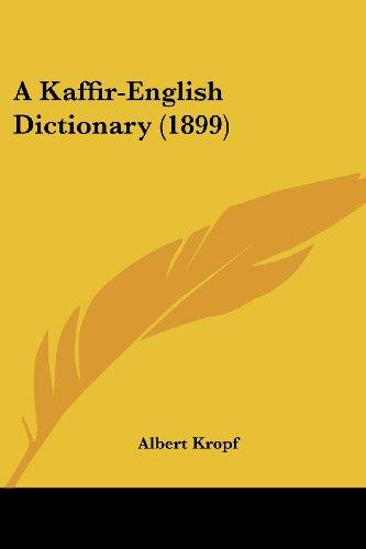 A Kaffir-English Dictionary (1899)