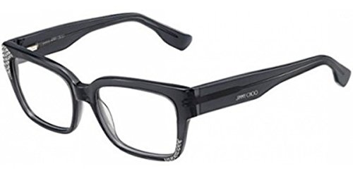 Jimmy Choo - JIMMY CHOO 135, Geometric, acetate, women, TRANSPARENT DARK GREY(J8E), 52/17/140