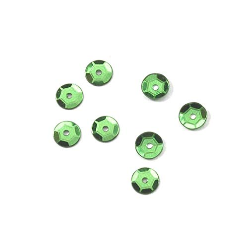 (Darice Sequin - Cup - Kelly Green - 5mm - 800 Pieces)