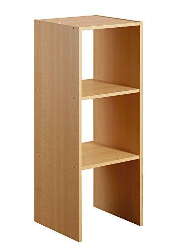 2-Shelf Organizer, Maple - Maple Stackable Storage Organizer