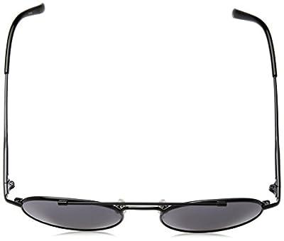 Calvin Klein Unisex Ck2148s Round Sunglasses, Black, 51 mm