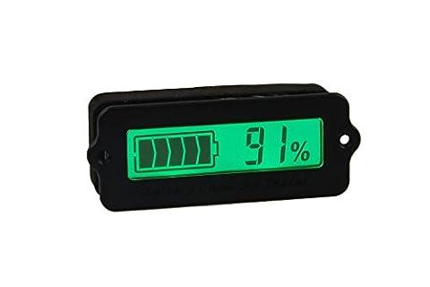 DWZ DC 8-63V Lead Acid Battery Tester, 12V/24V/36V/48V LCD Digital Battery Capacity Monitor Panel Gauge, Lithium Battery Status Indicator, Universal Car Vehicle Auto Electric Quantity Detector - 24v Lead Acid Battery
