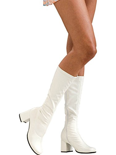 Secret Wishes Go-Go Boots, White, Medium -