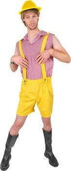 Adult Bruno Yellow Lederhosen Halloween Costume (Size: Standard 44) -