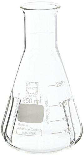 neoLab E-1088 Erlenmeyerkolben mit Schikane, 250 mL (2-er Pack)