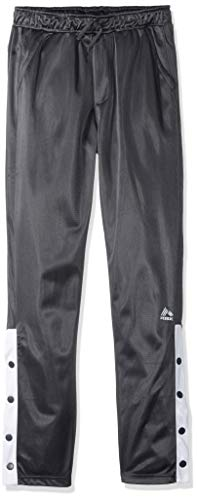 RBX Boys' Big Defender Tricot Jogger, Forged Iron/White snap, 14/16
