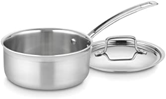 Cuisinart MCP19-16N MultiClad Pro Stainless Steel 1-1/2-Quart Saucepan with Cover