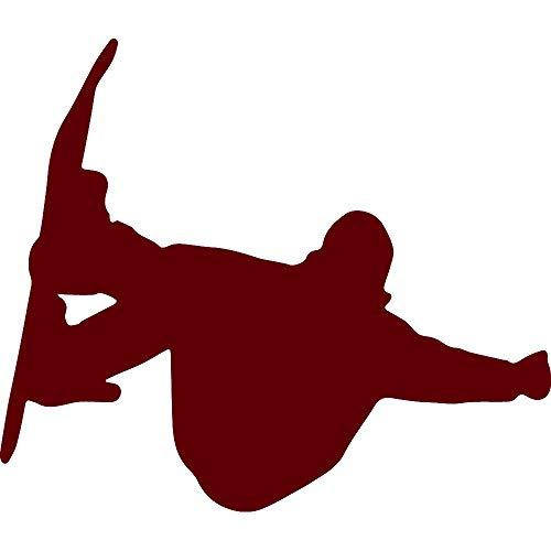 (NBFU DECALS SNOWBOADING Snowboarder Style 3 (Burgundy) (Set of 2) Premium Waterproof Vinyl Decal Stickers for Laptop Phone Accessory Helmet Car Window Bumper Mug Tuber Cup Door Wall Decoration)