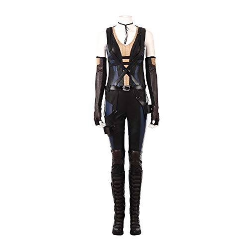Deadpool 2 Domino Cosplay Costume Leather Full Suit Custom Made Any Size Boots]()