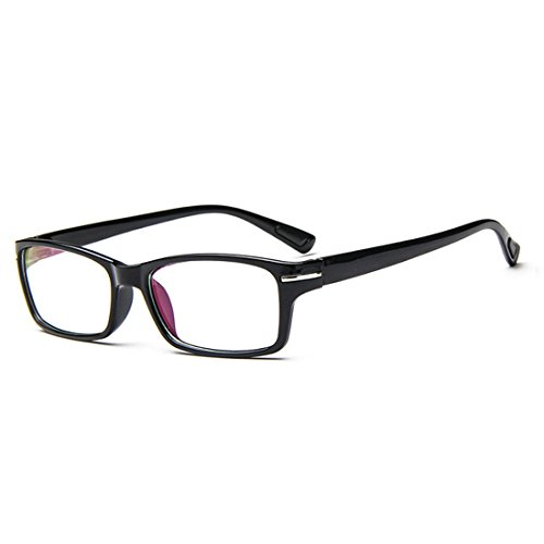 D.King Classic Vintage Inspired Rectangular Clear Lens Prescription Eyeglasses Frame - Eyeglass Frames Faces Best For Shaped Oval