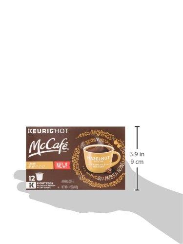 McCafé Hazelnut Flavored Coffee, Light Roast, K-Cup Pods, 12 Count