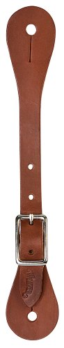 Leather Spur (Weaver Leather Women's Single-Ply Brown Latigo Leather Spur Straps)