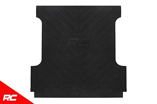 Rough Country Rubber Bed Mat Compatible w/ 2007-2019 Toyota Tundra 5.5 FT Bed RCM618 Bed Liner ()
