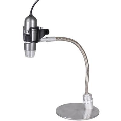 Dino-Lite AM413TA-MS33W 1.3MP 10x-50x, 220x Handheld Digital Microscope + Metal Gooseneck Stand by Dino-Lite