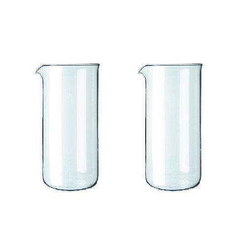Bodum Spare Glass Carafe for French Press Coffee Maker, 0.35-Liter, 12-Ounce, Set of 2