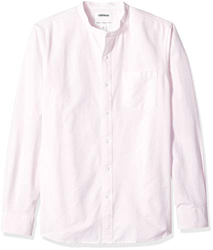 (Goodthreads Men's Standard-Fit Long-Sleeve Band-Collar Oxford Shirt, -pink, XX-Large Tall)