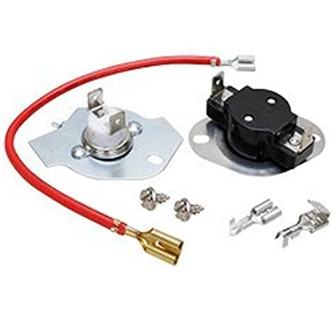 amazon.com: 279816 dryer thermal fuse & high-limit thermostat kit  replacement for inglis, admiral, whirlpool, kenmore: home improvement  amazon.com