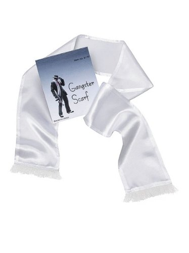 Bristol Novelty BA249 Gangster Scarf White, One Size for $<!--$2.77-->