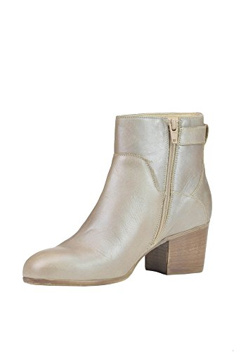 Manas Women's MCGLCAS03009E Grey Leather Ankle Boots GVuFB