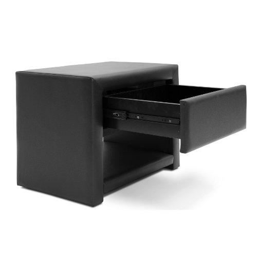 home, kitchen, furniture, bedroom furniture,  nightstands 11 on sale Baxton Studio Massey Upholstered Modern Nightstand, Black in USA