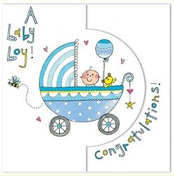 rachel ellen a baby boy congratulations card