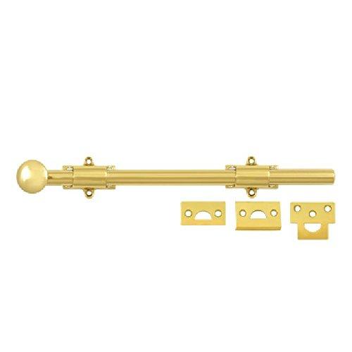 Deltana 12SB003 HD Solid Brass 12-Inch Surface Bolt