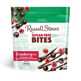 Russell Stover Sugar-Free Dark Choc Bites Resealable Bag, Cranberry, 5 Ounce (Choc Bite)