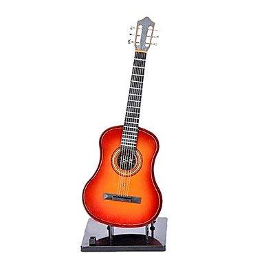 CECT STOCK Mini portátil de la guitarra eléctrica de juguete con Soporte (Funciona con 2