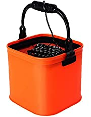 Portable Fishing Collapsible Bucket Folding Barrel for Outdoor Camping Travel Fishing Storage Auxiliary Tool Fishing Accessories