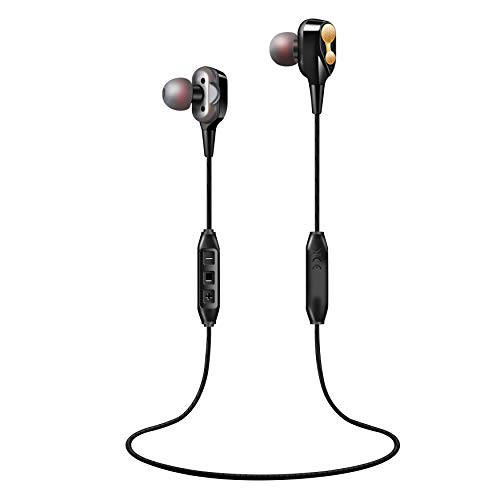(Dynamic 2 Drivers Bluetooth Earbuds; Ar85 V 5.0/4.0 Compatiable; Noise Isolating Earphones with 12 Hours Battery; IPX7 Safeguard Wireless Headphones with Mic for Bose,Beats.)