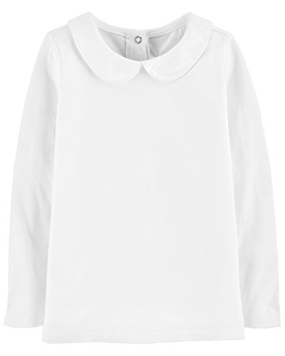 OshKosh B'Gosh Girls' Toddler Tops, White, 5T