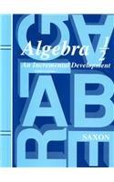 Algebra 1/2: An Incremental Development