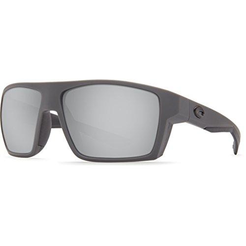 Costa Del Mar Bloke Sunglass, Matte Gray Matte Black/Silver Mirror - Promotion Sunglasses