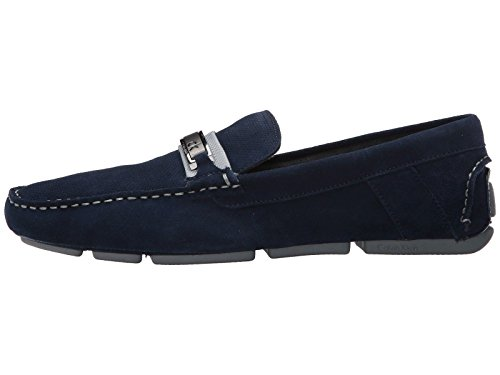 Calvin Klein Men's Shoes Marcell Suede Loafers Navy Slip On F9058 best prices cheap online wsrW0LT