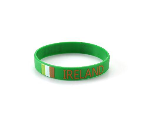 Ireland Eire Green Silicone Wristband