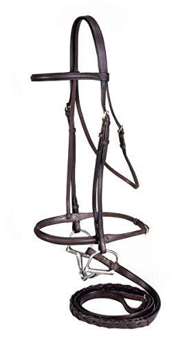 SilverFox Raised Snaffle Bridle Chestnut Horse