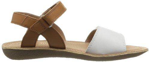 Start-rite Vanda - sandalias para niñas Blanco (Cream/Tan Leather)