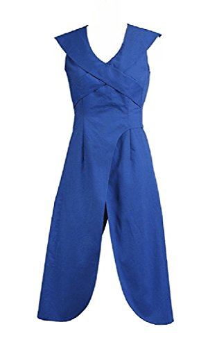 Custom Halloween Costumes For Sale (Xiao Maomi Womens Blue Dress Hot Sale Cosplay Costume Party Halloween (Custom-made, Blue))