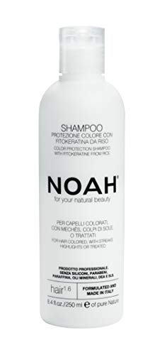 NOAH - 1.6 Color Protecting Shampoo with Rice Protein & Ylang-ylang - Keratin Color Care Shampoo, Eco Friendly, Sulfate Free, Color Safe, Natural Daily Shampoo, Vegan, Cruelty Free, 8.45 -